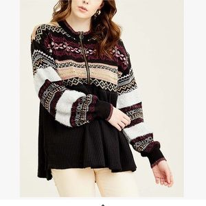 🆕 Free People Black Cabin Fever Sweater